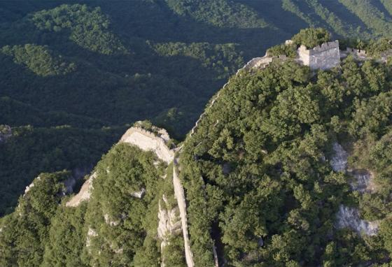 The Great Wall of China snakes through the remote Jiankou region north of Beijing. (Intel)