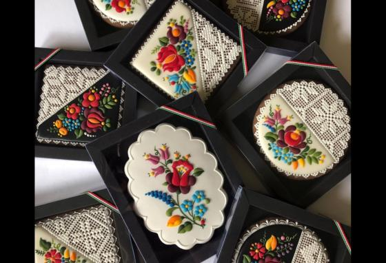 Many of Judit CzinknÉ PoÓr's customers order cookies with Hungarian folk embroidery patterns. (Mézesmanna)