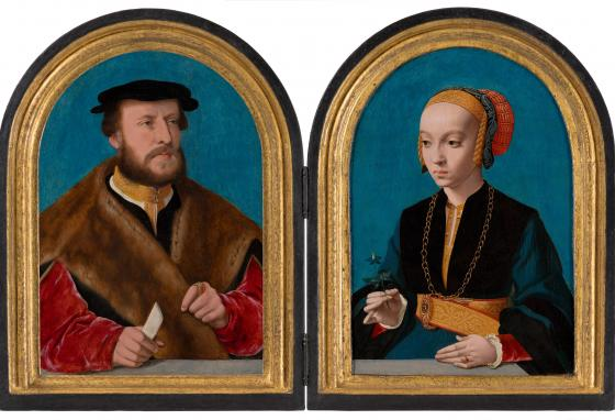 Elisabeth and Jakob were not yet married when the paintings were made. See Elisabeth's braids poking out from her cap? Married women did not wear their hair that way. (Margareta Svensson/Mauritshuis museum)