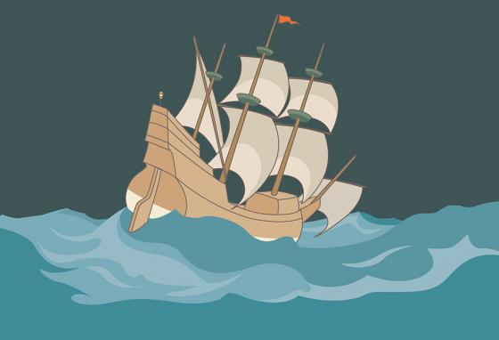 It pleased God to bring the Pilgrims safely across the ocean. (RB)