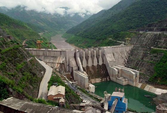 China's Dachaoshan dam makes electricity from the power of the Mekong River. (AP)
