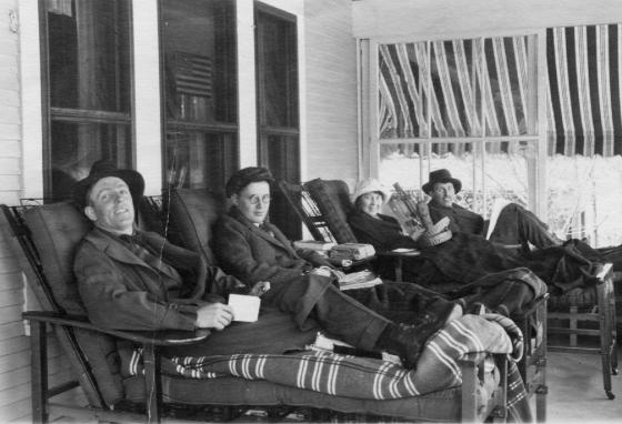 In the early 1900s, tuberculosis patients rest on the porch of a sanatorium in Saranac Lake, New York. (AP)