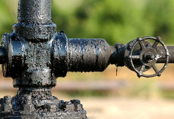 The condition of Venezuela's oil business is like the valve on this crude oil pump—a mess! (AP)