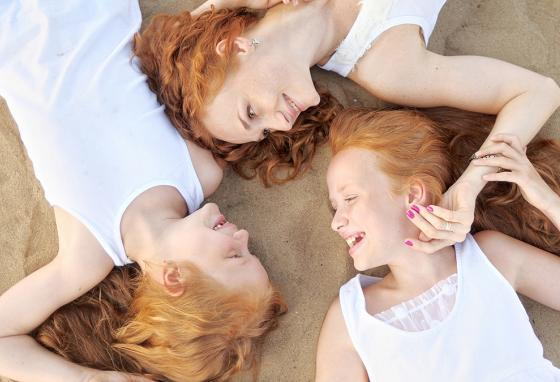 Red hair comes from a rare gene that gets passed down from parents.