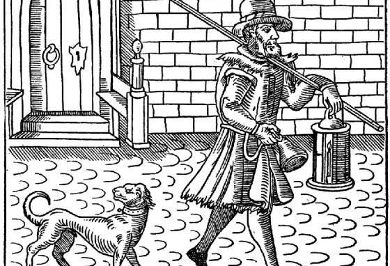 Before alarm clocks were invented, some people hired watchmen to wake them up.