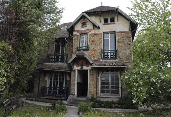 This is the 1,300 square-foot stone house where Marie and Pierre Curie spent vacations and weekends from 1904-1906. (AP/Francois Mori)