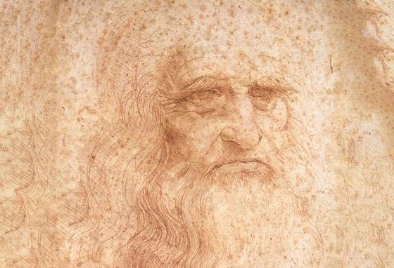 This portrait of a man done in red chalk is believed to be a drawing Leonardo da Vinci did of himself in 1510 when he was 60 years old.