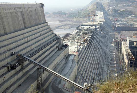 The Grand Ethiopian Renaissance Dam on the Blue Nile in Ethiopia will be the biggest dam in Africa. (AP)