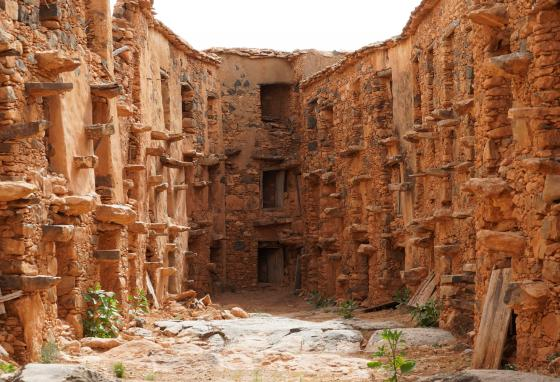 Ancient granaries served as safe places where people stored grains and valuables. This one is near Lalla Taalat Village in Souss Massa region, Morocco. (REUTERS/Abdelhak Balhaki)