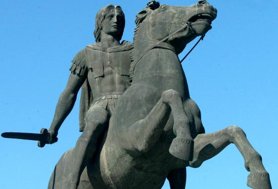 This statue of Alexander the Great stands in Thessaloniki, Greece. Alexander the Great, from Macedonia, conquered a vast empire. (AP/Nikolas Giakoumidis)