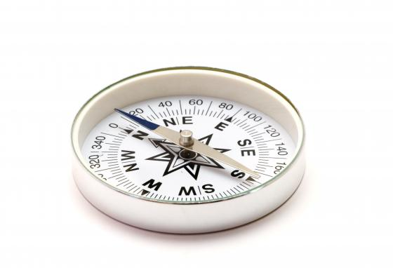 Compasses help people find their way. The magnetic field makes the needle always point north.