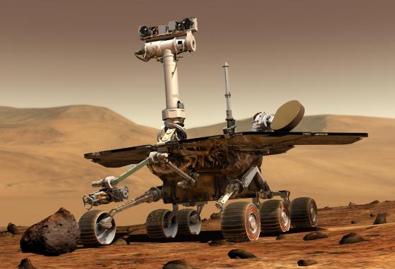 The Spirit rover. Robotic geologists Spirit and Opportunity landed on opposite sides of the Red Planet in 2004. (NASA)