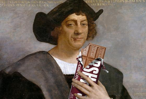 Would Christopher Columbus have enjoyed a Hershey bar? Before the discovery of the New World, the Old World had never heard of chocolate. (Krieg Barrie)