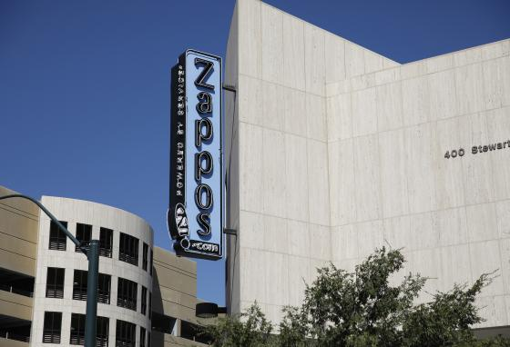 Zappos headquarters in Las Vegas, Nevada. The company now allows shoppers to buy one shoe at a time. (AP)