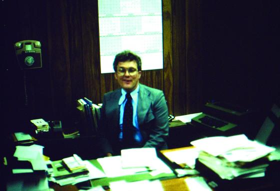 Joel Belz helped start It's God's World magazine. This picture of him was taken sometime in the 1980s. (GWN Archive)