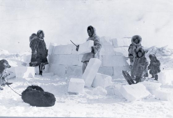 Long ago, igloos made of carved snow were all that stood between people and freezing nights in the Arctic. (AP)