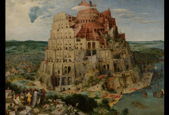 A painting of the Tower of Babel by Pieter Bruegel the Elder (1563). The tower was likely in modern-day Iraq.
