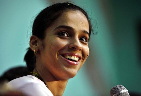 Will Saina Nehwal be a big star on the movie screen like she is on the court? (AP)