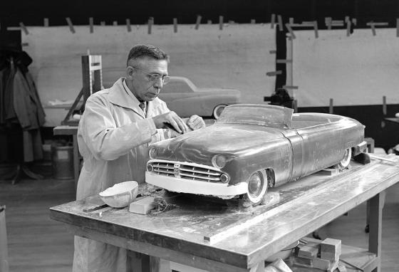 Harley Earl, the man who started to use clay to design cars in the 1920's, thought cars could be art. (AP)