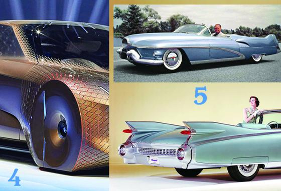 Wheel patterns and tails are features that start in concept cars and later become fashionable. (AP)
