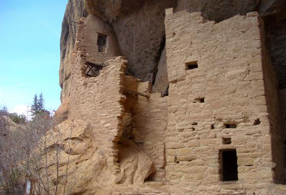 Ancient Puebloans mysteriously abandoned their cliff homes and left no record why. Drought and war may have been the reasons. (AP)