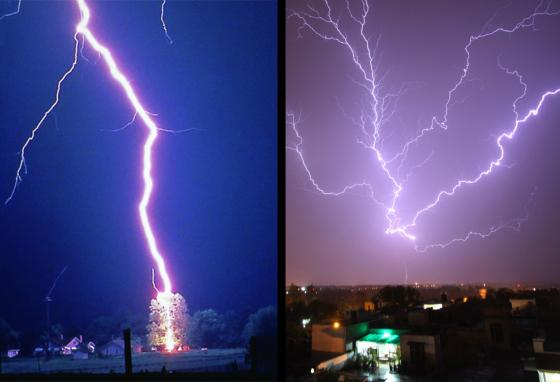 Lightning strikes Earth when the negative electrical charge from the cloud leaps to a positive charge on the ground. (AP)