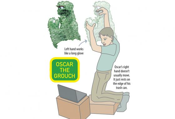 Oscar the Grouch is a live-hand Muppet. (AP, RB)