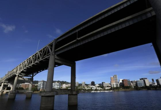 Would bridges like this one in Portland, Oregon be destroyed? The team thinks ahead. (AP)