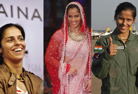 Saina is a celebrity, traveling and making appearances at events and on television. (AP)
