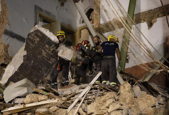 Other countries, including South America's Chile, sent people to help clean up. (AP)
