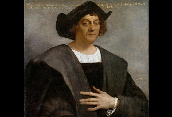 A portrait of Christopher Columbus. The explorer has lost honor among many.