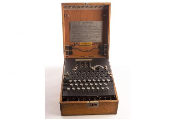 During World War II, the Germans used the Enigma to develop nearly unbreakable codes for sending messages. (Central Intelligence Agency)