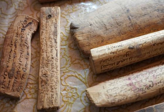These ancient manuscripts contain laws governing how the granaries worked. (REUTERS/Abdelhak Balhak)