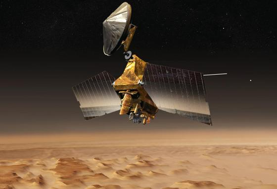 The Mars Reconnaissance Orbiter is still taking pictures after 14 years. (NASA)