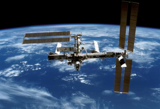 The International Space Station, where the mice spent time (AP)