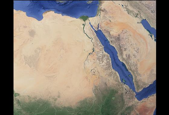 The Nile flows south to north through 11 African countries before emptying into the Mediterranean Sea.