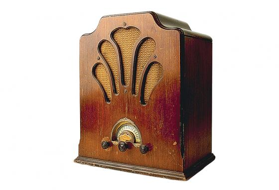 Radios back then were bigger and designed like elegant furniture. Now you can carry a radio in your pocket!