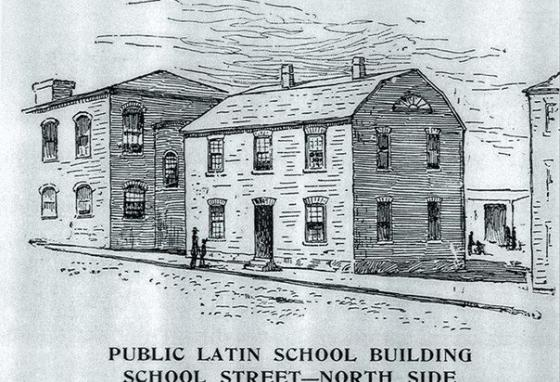 Boston Latin School was the first public school in America. Students still learn there today.