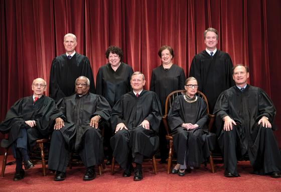 A portrait of the current justices who make up the SCOTUS (AP)