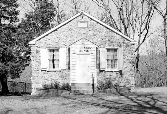 The Mt. Gilead AME Church is in a community in Buckingham, Pennsylvania, that is associated with the Underground Railroad. Conductors hid slaves in churches, homes, and schoolhouses. (Library of Congress)