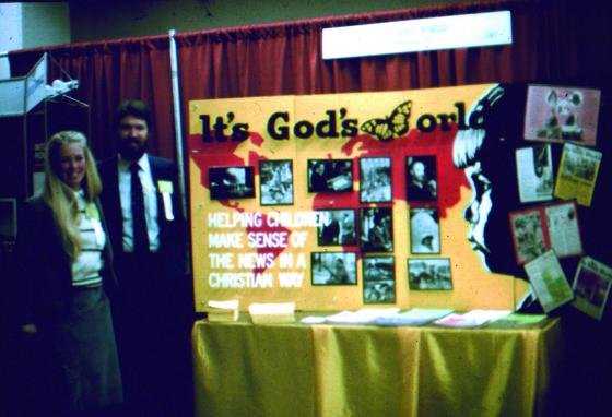 Norm Bomer and his wife Carol presented the magazine at a conference in 1983. (GWN Archive)