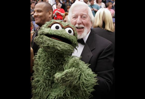 Caroll Spinney also played Oscar the Grouch on Sesame Street. (AP)