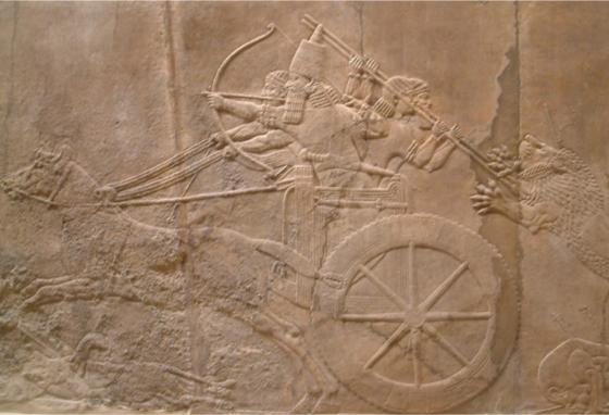 This ancient relief image of a king hunting came from a palace in Nineveh, the city God sent Jonah to.