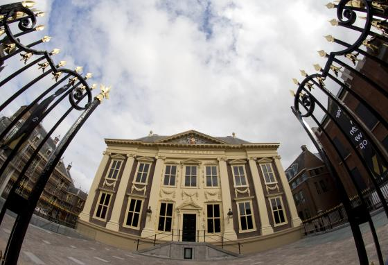 The Mauritshuis museum bought the portraits. The museum is located in The Hague, the Netherlands. (AP)