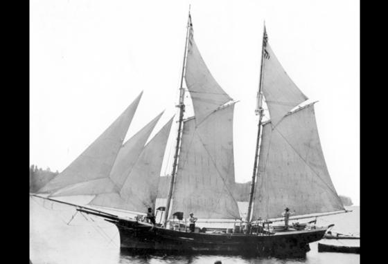 The Lake Serpent was a schooner similar in size and rigging to this one. (Historcal Collection, Bowling Green State University)