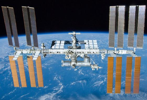 Over the years, the ISS has grown. This photo was taken in 2010. (NASA)