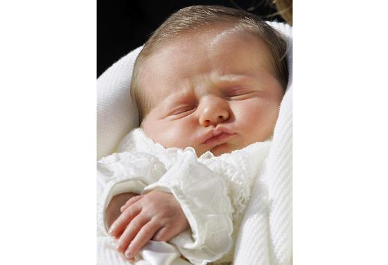 Princess Leonor as a newborn princess (AP)