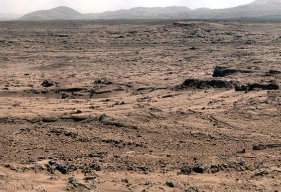 The fine-grained surface of Mars is a challenge for rovers. (NASA)