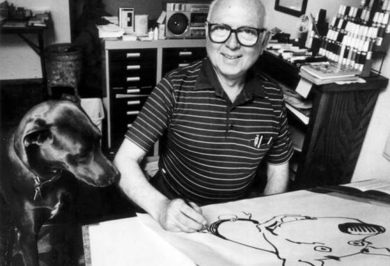 Cartoonist Brad Anderson donated his collection of cartoons to the museum. He drew a comic about a Great Dane named Marmaduke. (UFS)
