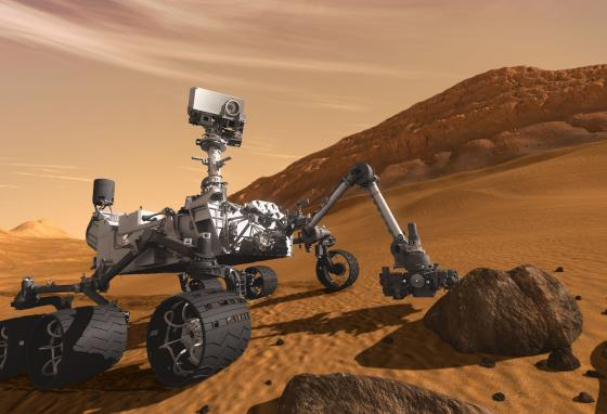 Curiosity is the largest rover ever sent to Mars. It launched November 26, 2011. (NASA)